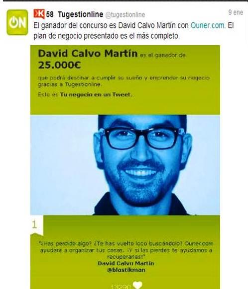 ouner.com; David Calvo Martín, emprendedores, Internet