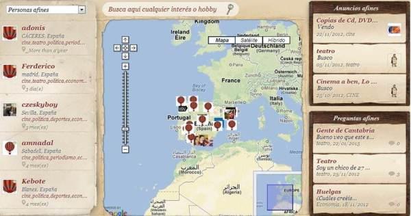 mapa Geonick
